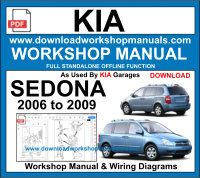 Kia Sedona Repair Service Workshop Manual Download