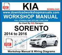 Kia Sorento Repair Service Workshop Manual Download