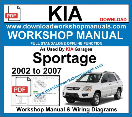 Kia Sportage Service repair workshop manual 2002 to 2007