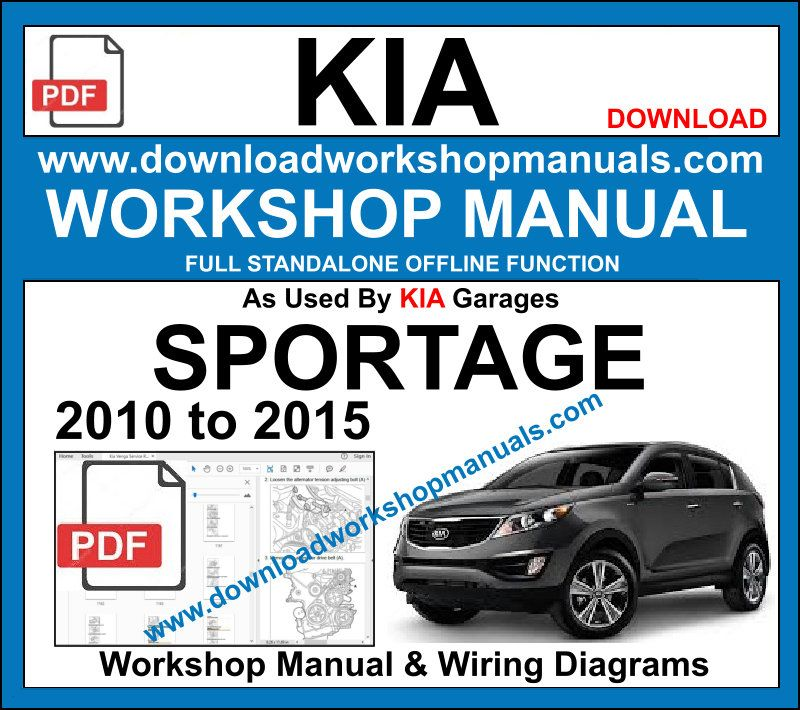 Kia Sportage Service repair workshop manual 2010 to 2015