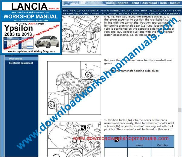 Lancia Ypsilon Workshop Manual