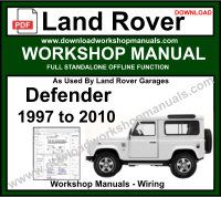 Land Rover Defender Workshop Service Repair Manual