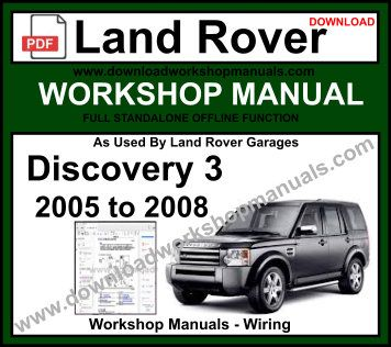 Discovery 3 Part# BA3031B Haynes Manual