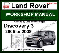 Land Rover Discovery 3 Workshop Service Repair Manual