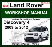 Land Rover Discovery 4 Workshop Service Repair Manual