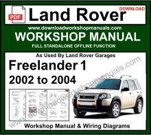 Land Rover Freelander 1 Workshop Service Repair Manual
