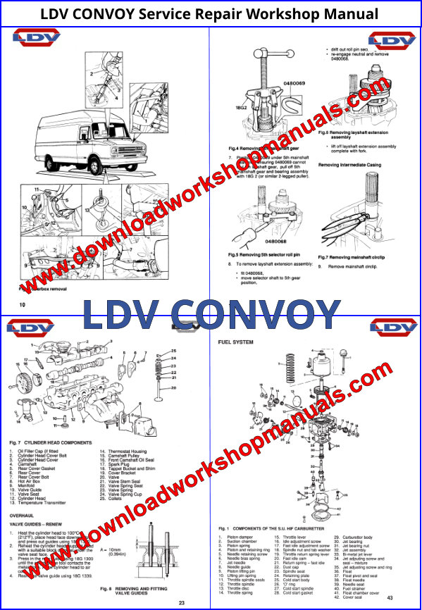 LDV CONVOY Service Repair Workshop Manual