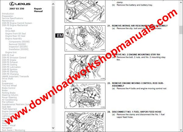 Lexus ES 350 repair manual