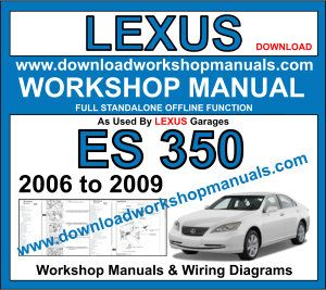Lexus ES 350 workshop repair manual download