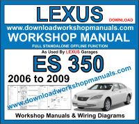 Lexus ES 350 workshop manual download
