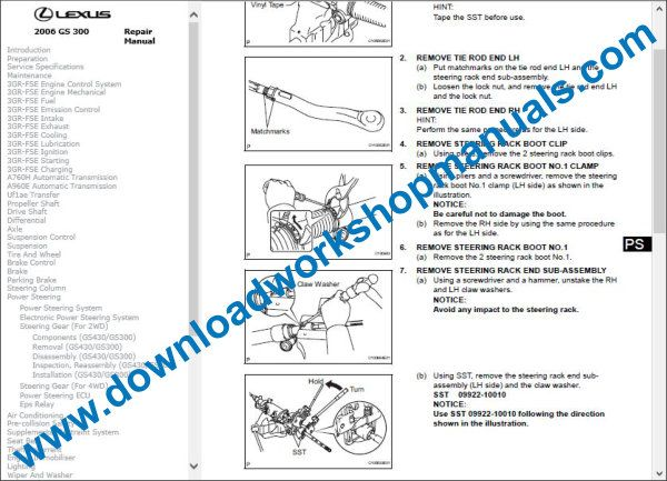 Lexus GS 300 repair manual