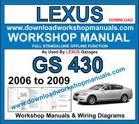 Lexus GS 430 workshop repair manual download