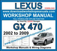 Lexus GX 470 workshop repair manual download