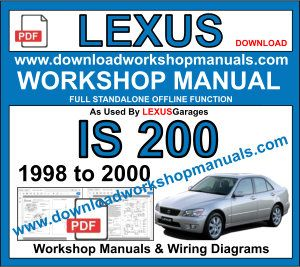 Lexus IS 200 1998 to 2000 workshop manual download