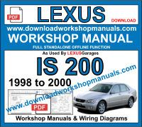 Lexus is 200 Service Repair Workshop Manual Download