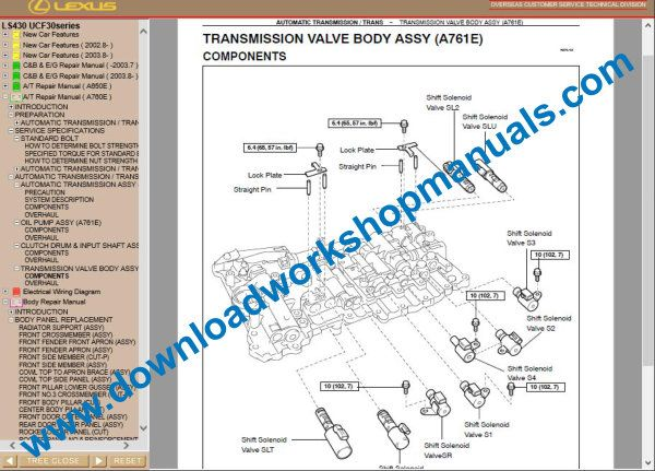 Lexus LS 430 repair manual