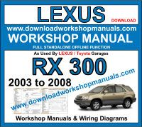 Lexus RX 300 workshop service repair manual