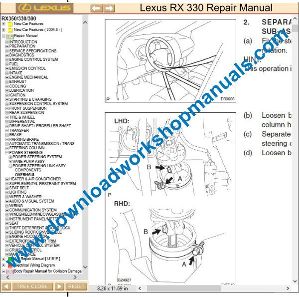 Lexus RX 330 repair manual