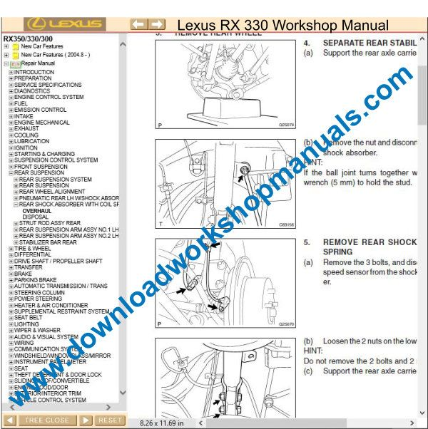 Lexus RX 300 workshop manual