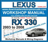 Lexus RX 330 workshop service repair manual