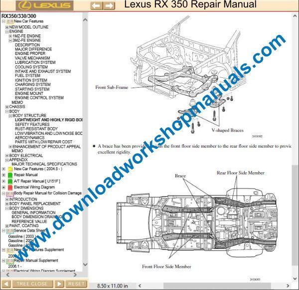 Lexus Rx 350 Service Repair Workshop Manual