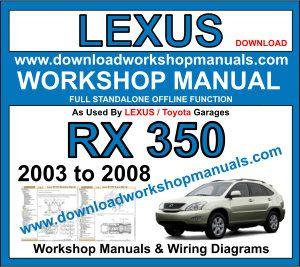 lexus rx wiring diagram lexus rx 350 service repair workshop manual  lexus rx 350 service repair workshop manual