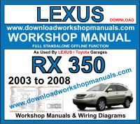 Lexus RX 350 workshop service repair manual