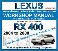 Lexus RX 400H Service Repair Workshop Manual Download