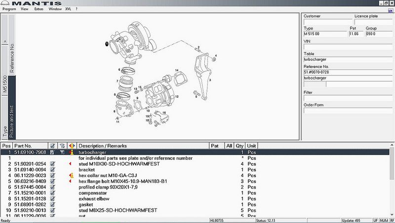 Man Mantis electronic parts catalogue download