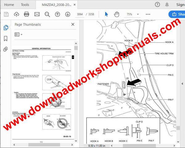 Mazda 3 Workshop Service Repair Manual Download