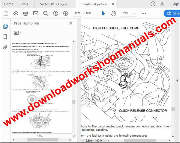 Mazda 6 Workshop Repair Manual Download