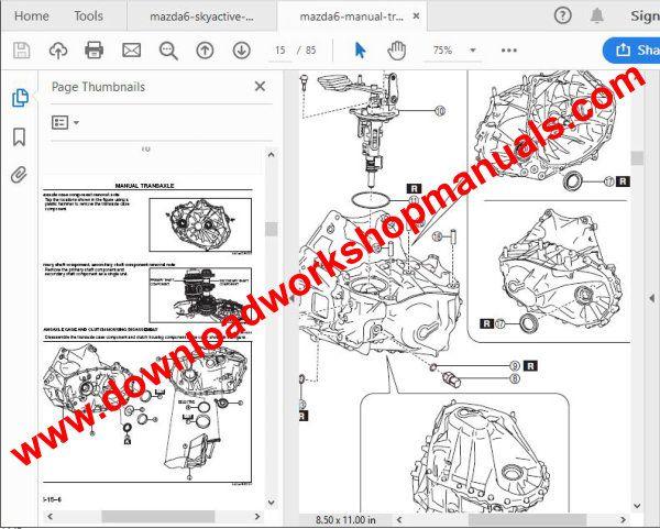 Mazda 6 MS6 GJ SkyActiv 2012-2016 Workshop Service Repair Manual