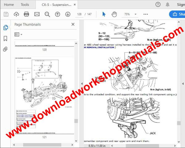 Mazda cx5 service repair manual