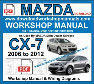 Mazda CX7 Workshop Service Repair Manual Download PDF