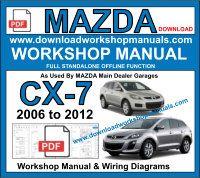 mazda cx7 workshop repair manual pdf