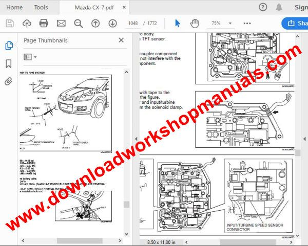 Mazda cx7 workshop manual download