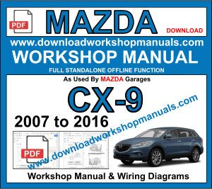 Mazda CX9 Workshop Repair Sevice Manual PDF