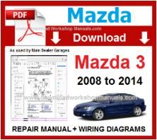 Mazda 3  Workshop Service Repair Manual pdf