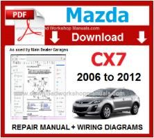 Mazda CX7 Repair Workshop Manual