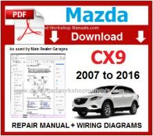Mazda CX9 Workshop Repair Manual pdf