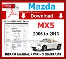 Mazda MX5 Workshop Service Repair Manual pdf