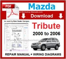 Mazda Tribute Workshop Service Repair Manual pdf