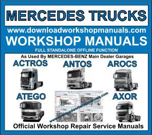 Mercedes Truck Class Workshop Repair Manual