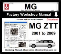 MG ZTT Workshop  Service Repair Manual Download