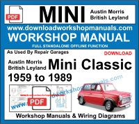 Austin Morris Mini Workshop Repair Manuals Download