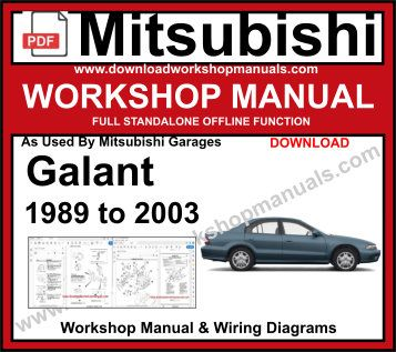 mitsubishi galant service repair Workshop manual pdf