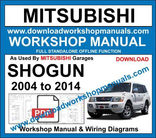 Mitsubishi Sho Work Manual, Mitsubishi Pajero Wiring Diagram