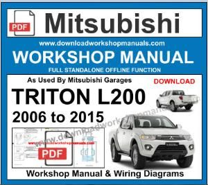 Mitsubishi Triton workshop service repair manual download