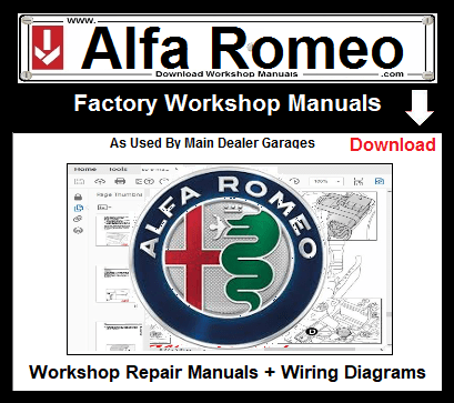 Alfa Romeo Workshop Repair Manuals