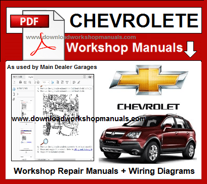 Chevrolet Workshop Repair Manuals Download